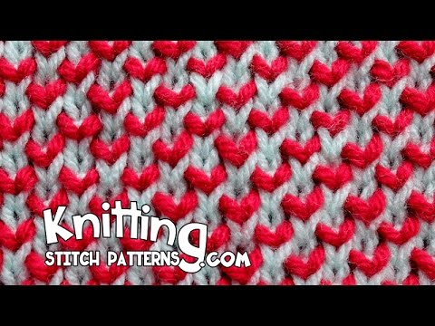 Slip Stitch Knitting Two Colors : Two-Color Pearl Brioche - YouTube
