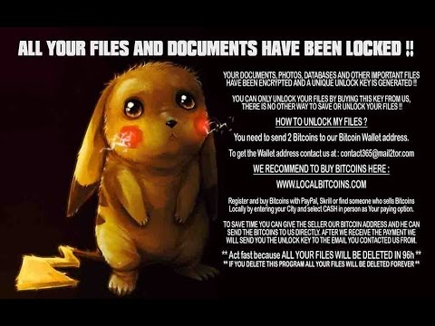 DetoxCrypto Ransomware with Pokemon Wallpaper and Music