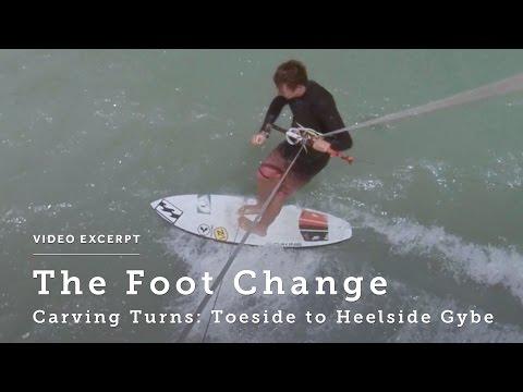 Carving Turns: Toeside to Heelside Gybe - Kitesurfing Technique & Tips