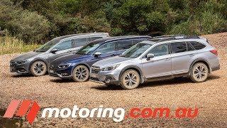 2018 Holden Commodore Tourer v Subaru Outback v Volkswagen Passat Alltrack | motoring.com.au
