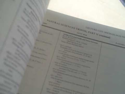 The Cambridge Lecture List