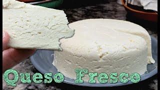 QUESO FRESCO | Homemade Fresh Cheese Recipe | Queso Fresco Casero