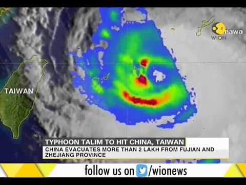 Typhoon Talim to turn towards Japan after hitting China and Taiwan