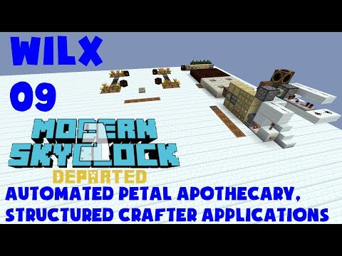 09 - Automated Petal Apothecary, Structured Crafter - Modern Skyblock 3