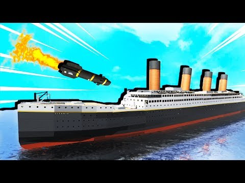 DESTROYING the TITANIC and HELLFIRE MISSILES! - Disassembly 3D Gameplay