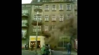 Będzin - pożar w centrum miasta