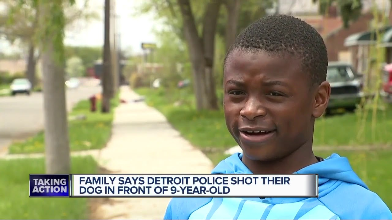 DETROIT MICHIGAN, KKKOP SHOOTS BLACK FAMILY Family DOG IN FRONT OF THEIR 9YR OLD