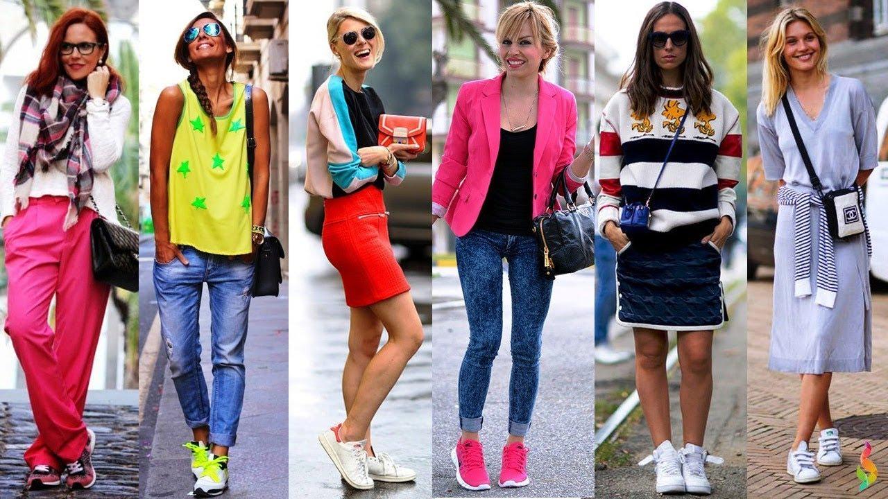 e67785964371 Стильные образы с кроссовками и кедами - модный тренд 2018 💎 С чем ...