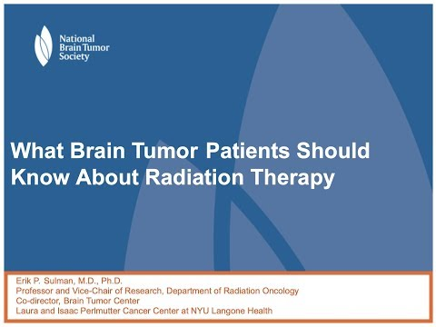 What Brain Tumor Patients Should Know about Radiation Therapy