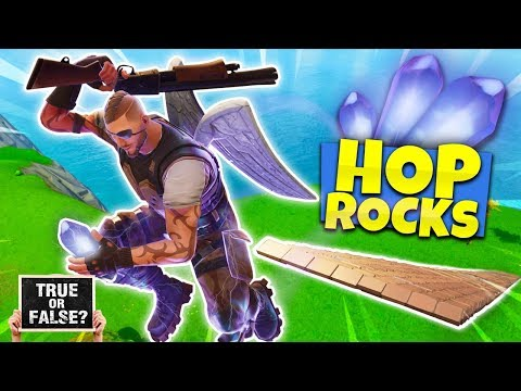 TRUE OR FALSE? - YOU CAN TAKE FALL DAMAGE WHILE ON LOW GRAVITY HOP ROCKS - FORTNITE