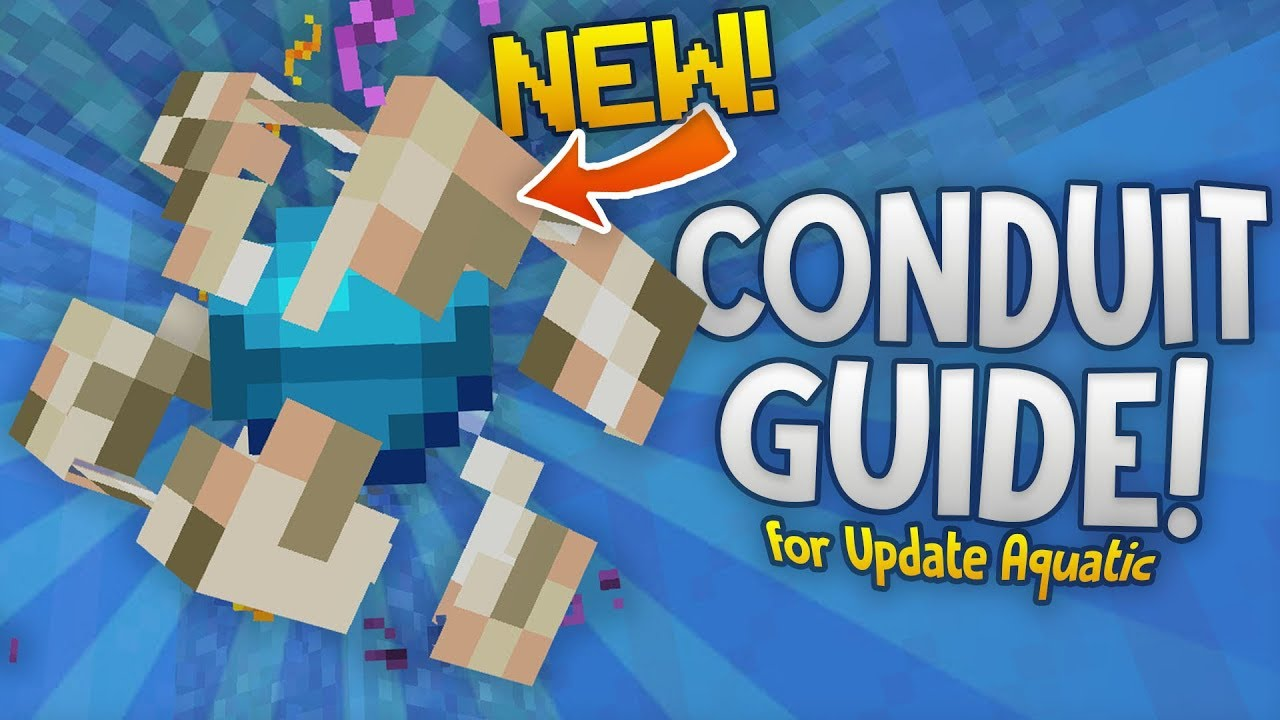 Guide To The Conduit Minecraft Update Aquatic Build 11 Heart Of The Sea Nautilus More Youtube