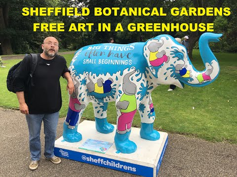 Sheffield Botanical Gardens Free Art in a Greehouse 16-07-2016
