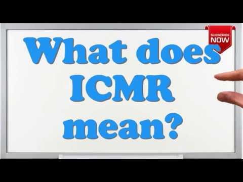 What is the full form of ICMR?