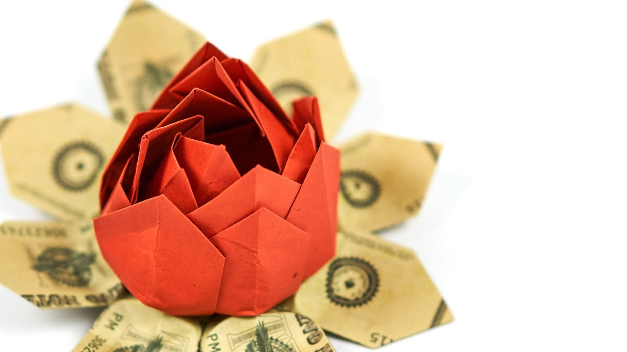 Dollar bill origami flower folding a money flower easy dollar bill origami flower folding a money flower easy instructions jeuxipadfo Images