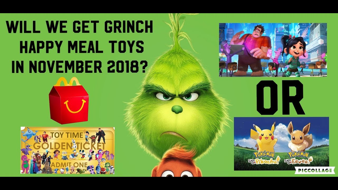 will mcdonald's u.s. get the grinch movie happy meal toy in november