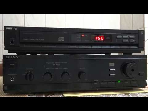 CD Player Philips CD480 16bit dual D/A Conversion + Sony Amplifier TA-F200