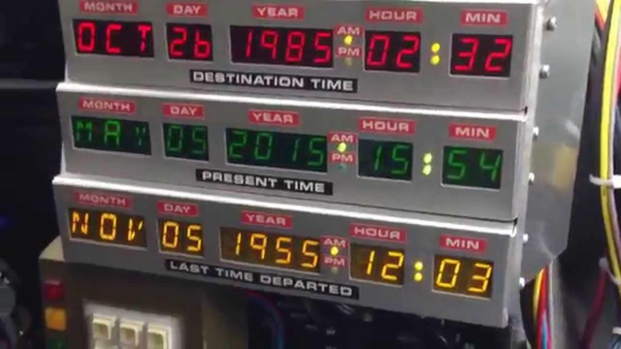 Inside A Back To The Future Delorean Time Machine Replica