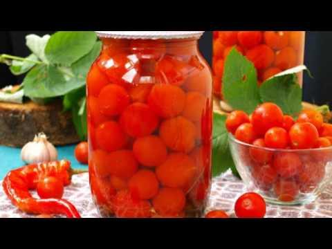 Маринованные помидоры черри с острым перцем
