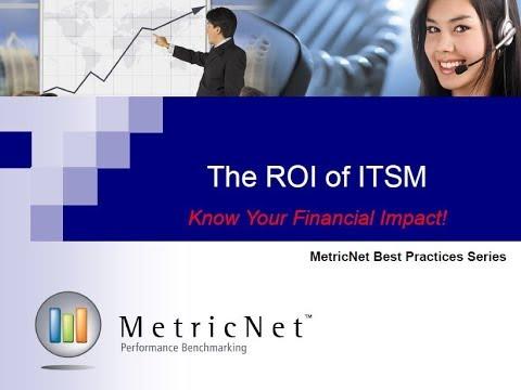 ROI of ITSM