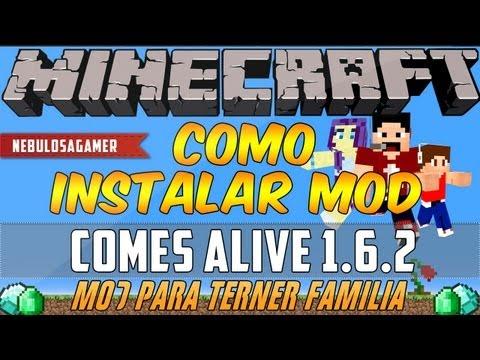 Minecraft 1.6.4/1.6.2 | Como instalar COMES ALIVE MOD (Mod para tener familia) ...