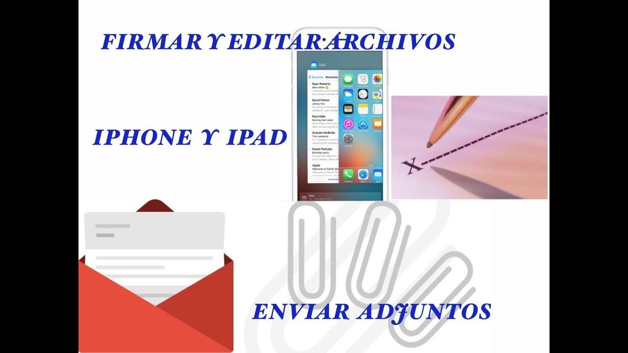 Cómo enviar archivos adjuntos en iPhone y iPad - YouTube