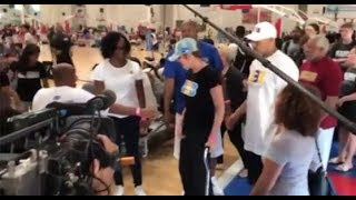 MOTHER OF LAKERS LONZO BALL MADE HER FIRST PUBLIC APPEARANCE AT LAMELO BALL'S AAU BASKETBALL GAME!