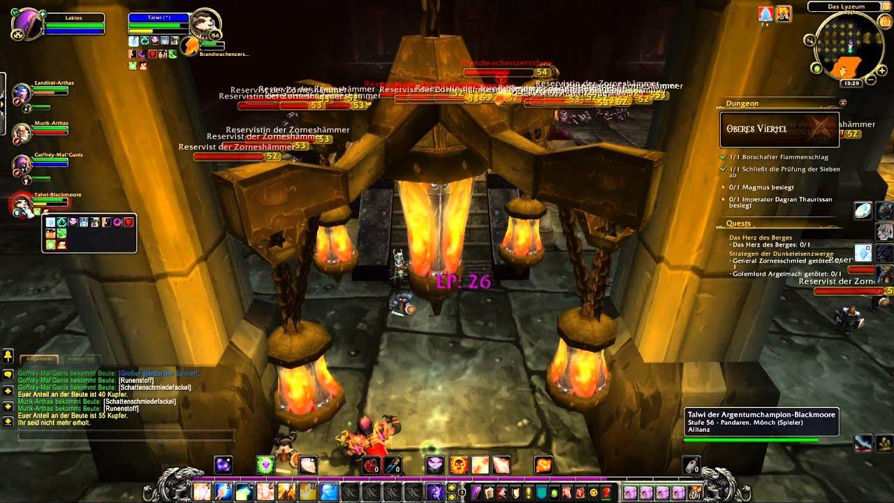 World of Warcraft [Deutsch] #72 Dungeon Schwarzfelstiefen Oberes Viertel