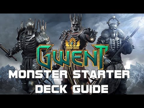 Gwent Monster Starter Deck Guide ~ Wild Hunt Frost ~ The Witcher Card Game Open Beta Gameplay