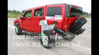 2006-2010 Hummer H3 FMVSS 301 Rear Crash Test (50 Mph)