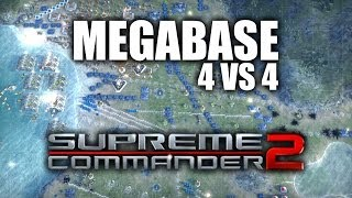 "JUGANDO Supreme Commander 2 - ""Megabase en 4 VS 4"""