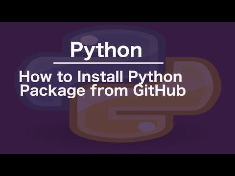 How To Install Python Package From GitHub