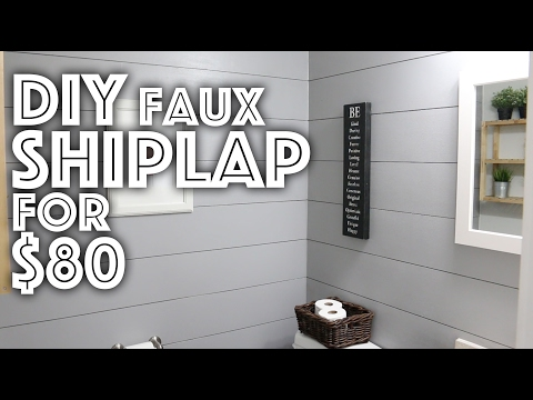 DIY Faux Shiplap for $80