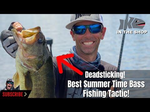 Best Summertime Bass Fishing Tactic! Deadsticking!