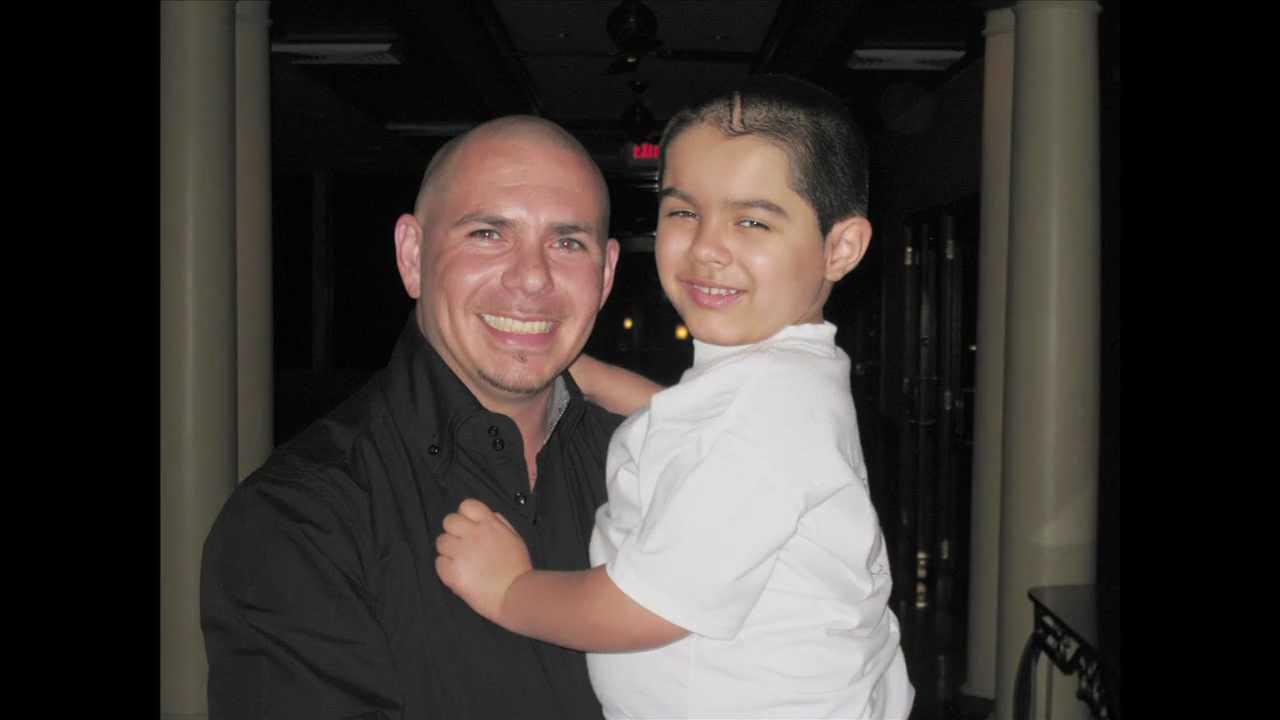 A Wish Come True! Pitbull Meets JJCCF Child Fighting Cancer