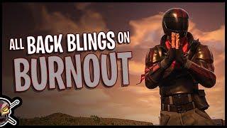 All Back Blings on Burnout | Fortnite Cosmetics