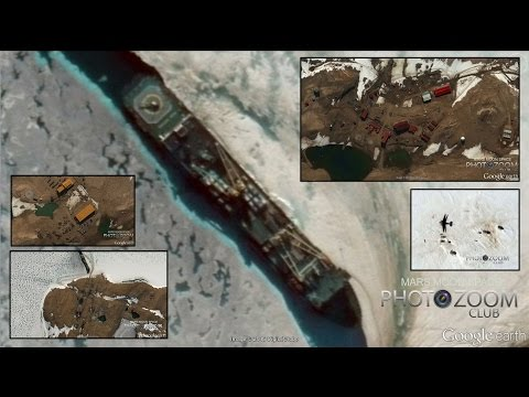 MILITARY BASES REVEALED ON ANTARCTICA. Ships Helicopters Planes Building Trucks Etc Etc