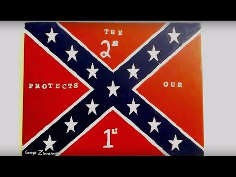 George Zimmerman Selling Confederate Flag Painting at 'Muslim-Free' Gun Store