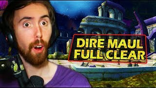 Asmongold Galaxy First FULL DIRE MAUL Clear (East, North, West) - Classic WoW