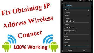 How to fix obtaining ip address wireless connect - Wifi Connection problem solved thumbnail