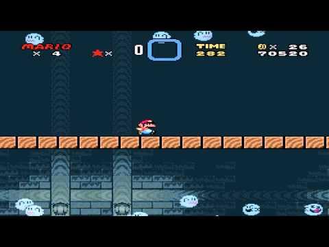 [Super Mario World] Donut Ghost House - Secret Exit - No cape - Cloud - Hyphen