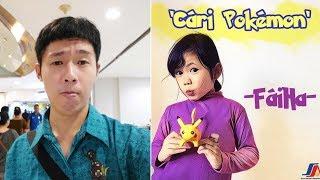 Gambar cover orang hong kong nyanyi lagu indonesia,judulnya cari pokemon(faiha)