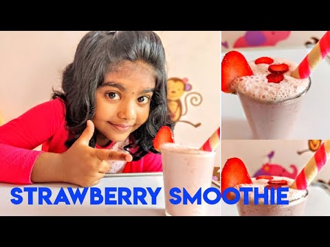 Strawberry Smoothie    Kids Special    Fireless Cooking