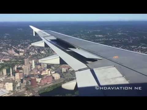 JetBlue A320 Hartford Arrival - Landing At Bradley International Airport