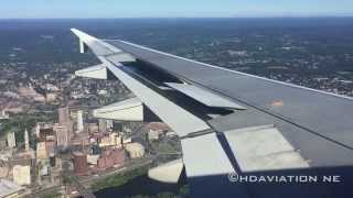 JetBlue A320 Hartford Arrival - Landing at Bradley International Airport