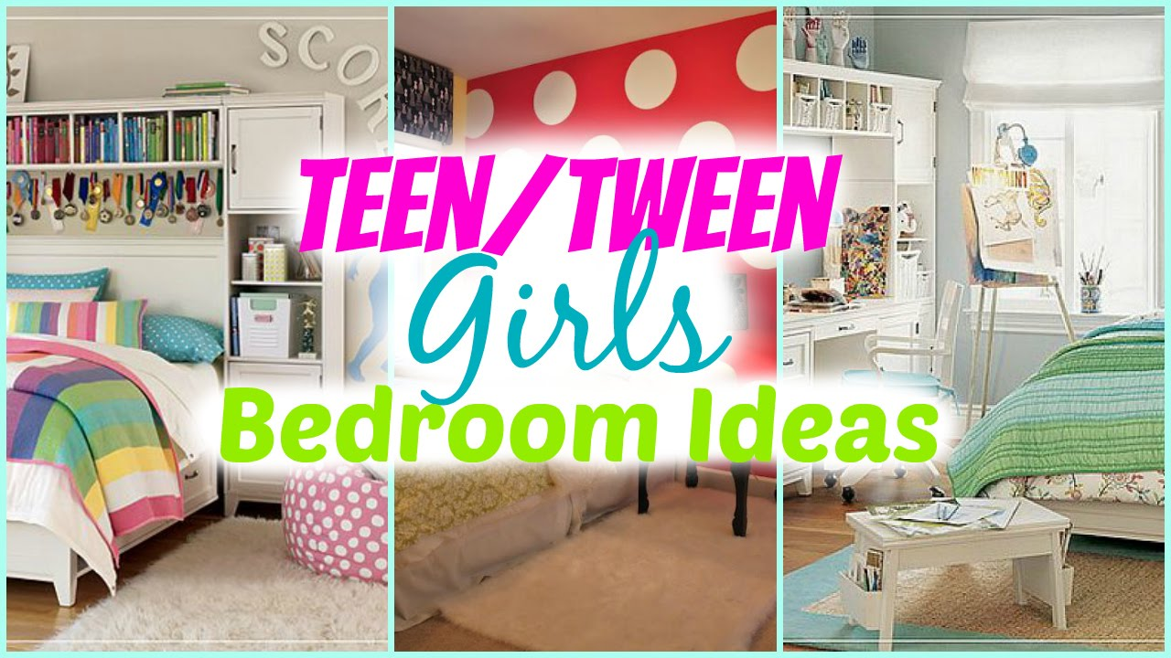 Tween Girl Room Decor Teenage Girl Bedroom Ideas  Decorating Tips  Youtube