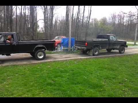 Ford Diesel 7 3 Vs Ford 460 Youtube