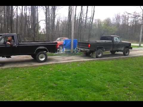 Ford diesel(73) vs ford(460) - YouTube