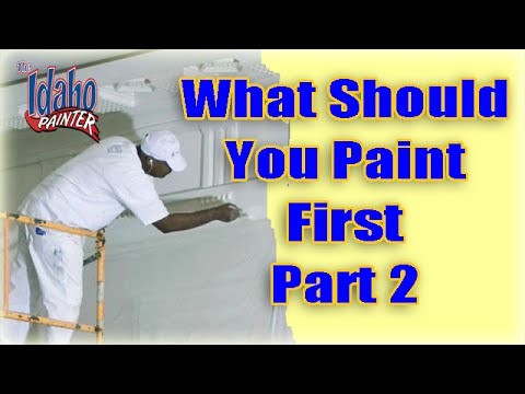 What To Paint First With A Paint Sprayer.  Painting Steps With A Sprayer.  Painting Tips.