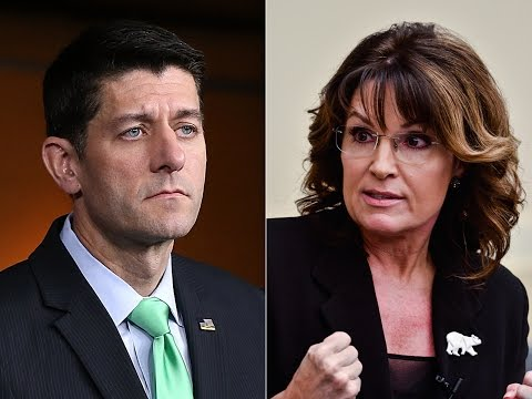 Incoherent Sarah Palin Says She'll Destroy Paul Ryan for Bashing Trump