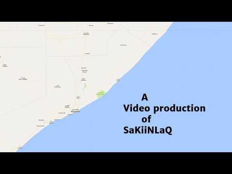 Travel map in Somalia | Ayanle 'Blakchai' - Second class